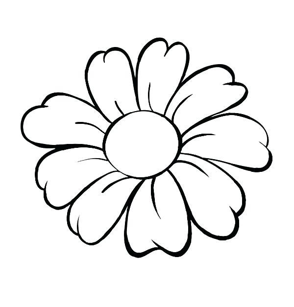600x627 outline flower outline flower tattoo design beautiful flower
