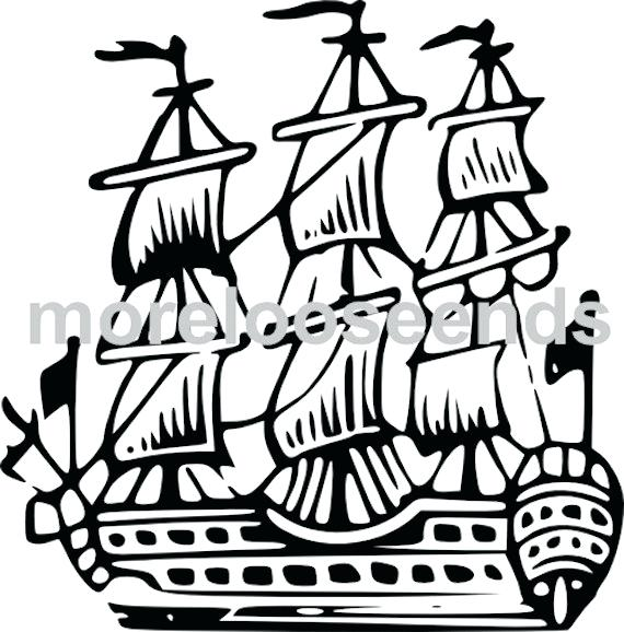 570x578 Drawn Anchor Pirate Ship Ships Drawing Free Worksheets Free