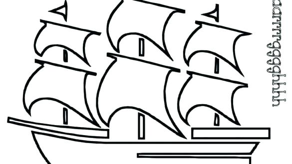 585x329 Pirate Ship Coloring