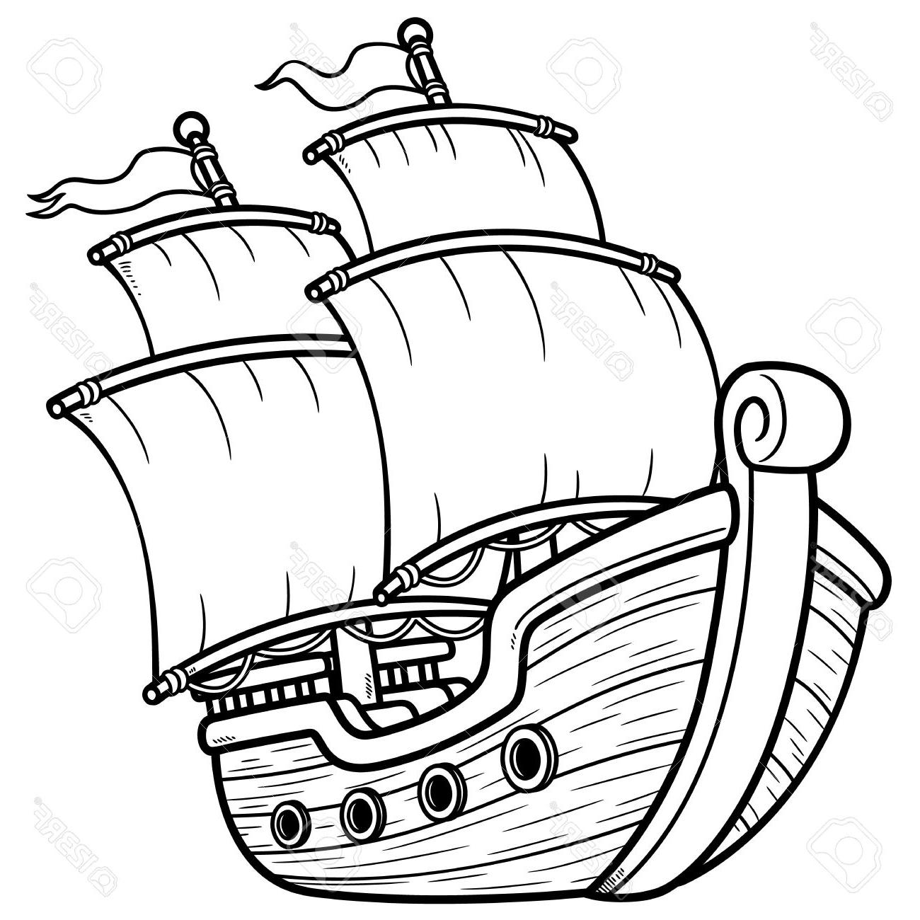 1300x1300 Pirate Ship Outline Images