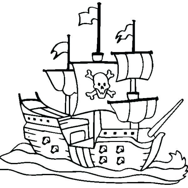 600x600 Ship Colouring Excellent Pirate Ship Coloring Hook