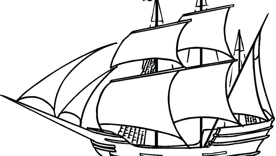 960x544 Pirate Ship Coloring