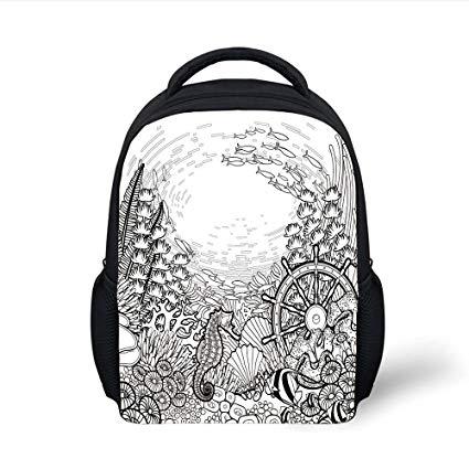 425x425 Iprint Kids School Backpack Aquarium,graphic Coral