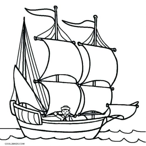 499x500 Coloring Pages Pirate Ship Coloring