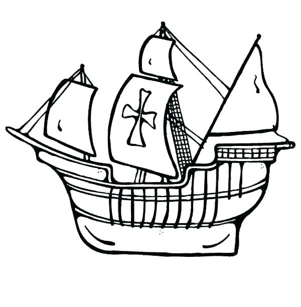 600x612 Pirate Ship Coloring Pages Free Printable Pirate Ship Coloring