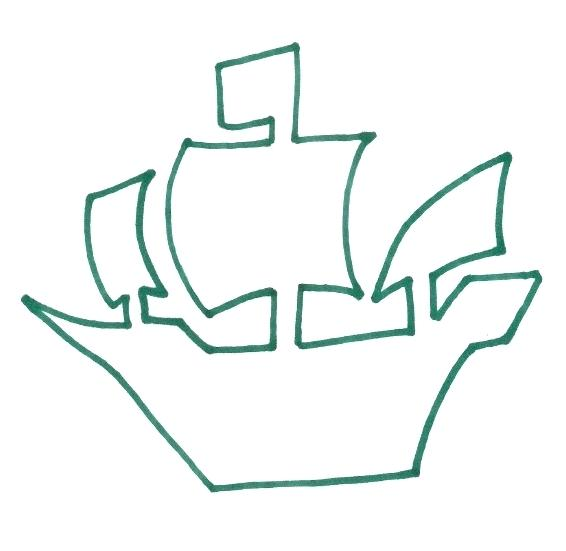 566x551 pirate ship outline ship drawing clip art ship pirate ship outline