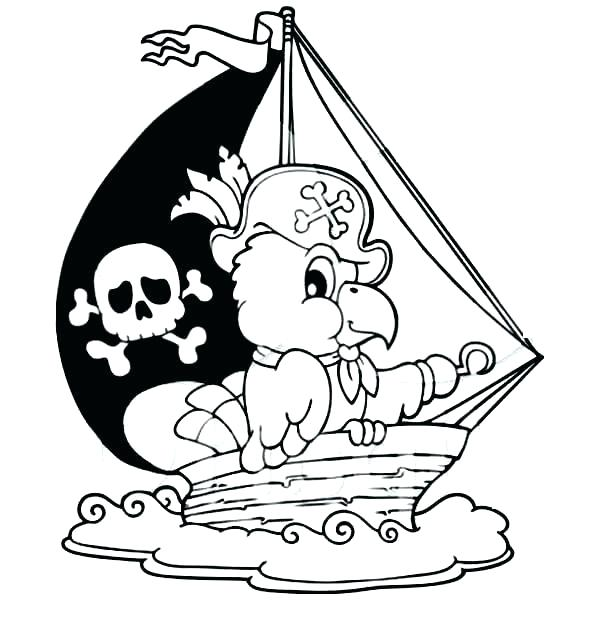 600x627 Coloring Pages Pirate Ship