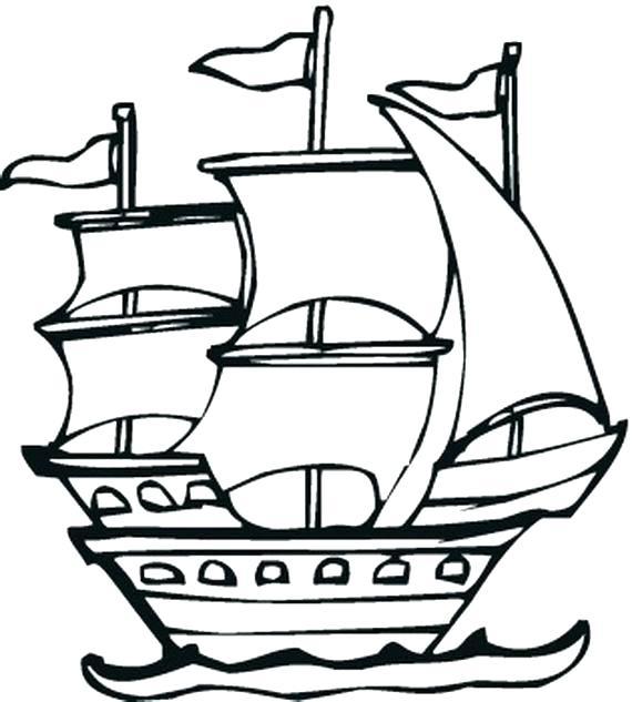 570x633 Pirate Ship Coloring