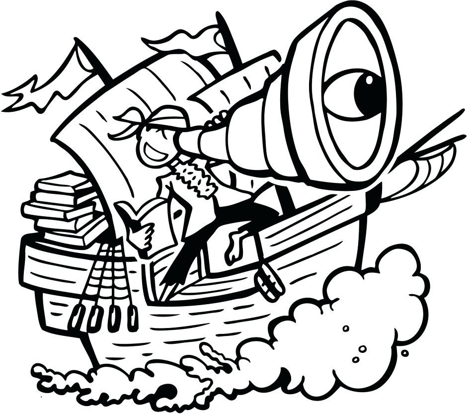940x833 Pirate Drawing Outline For Free Download