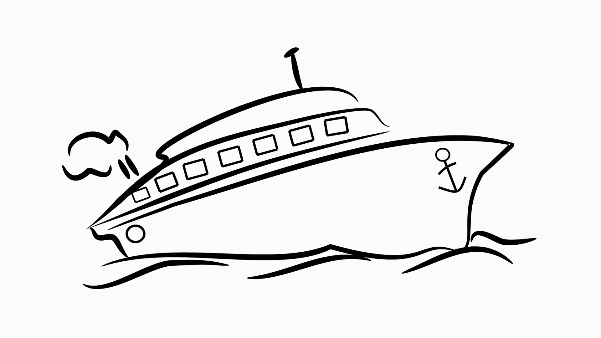 1920x1080 Ship Drawing Background For Free Download