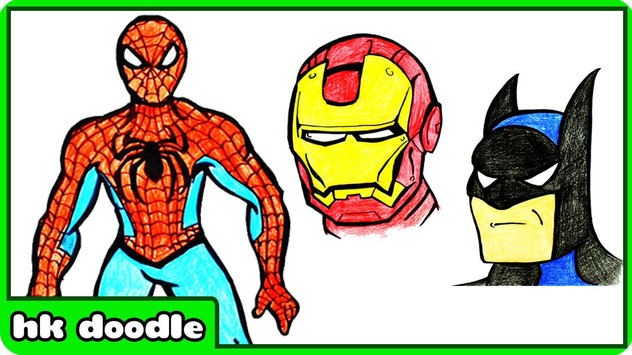 1280x720 How To Draw Spiderman How To Draw Superheroes Step