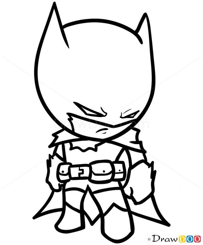 665x801 How To Draw Batman, Chibi