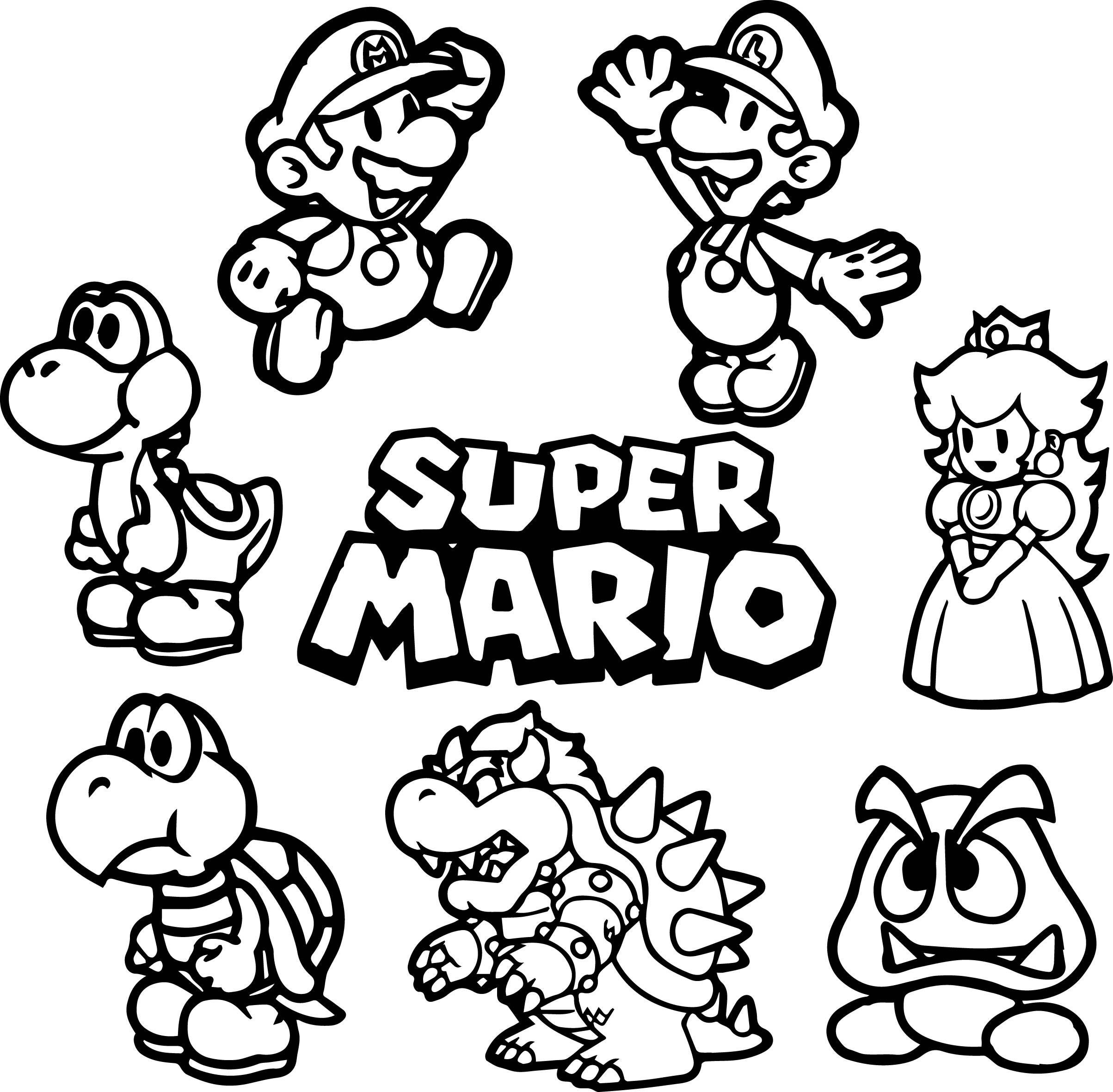 Super Mario Bros Drawing Free Download Best Super Mario