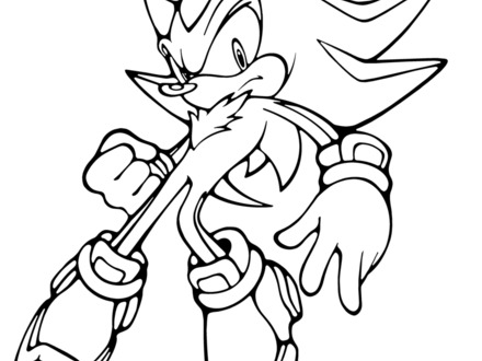 440x330 sonic shadow coloring pages, shadow coloring