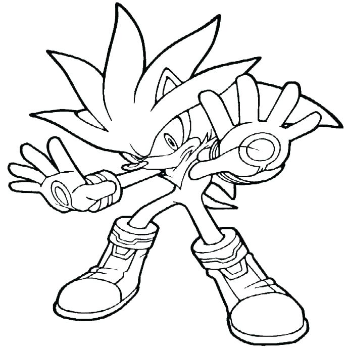 687x691 super sonic coloring pages super sonic and super shadow coloring