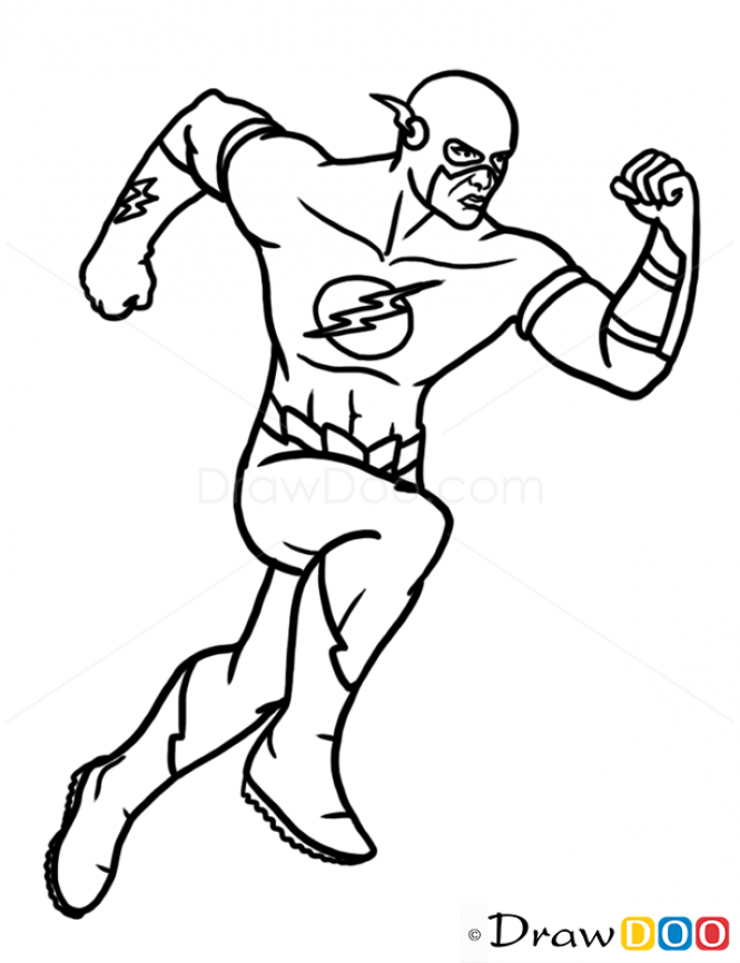 665x866 Drawing Basics Superhero For Free Download
