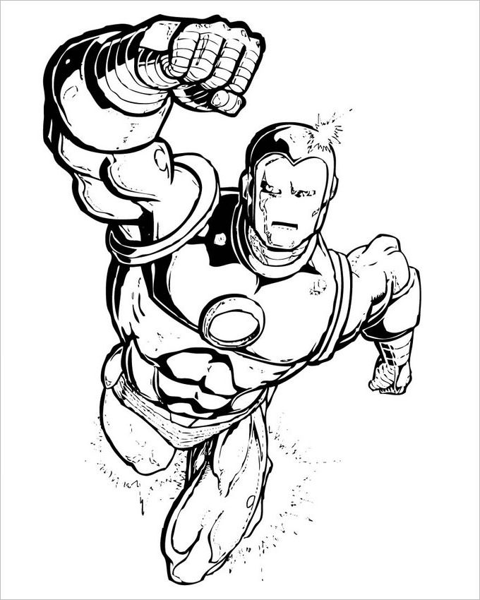680x850 Superhero Coloring Pages