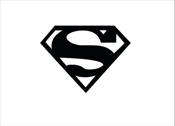 570x411 Superman Symbol Outline Download Printable Superman Logo Outline