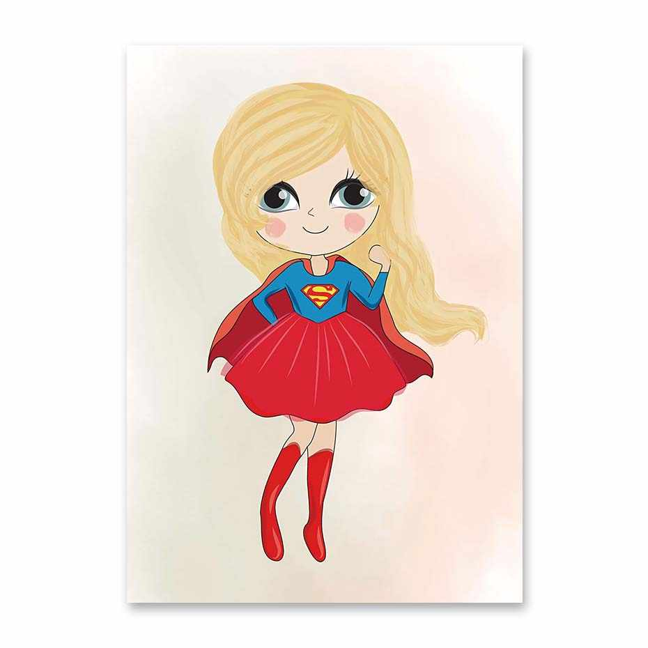 930x930 Detail Feedback Questions About Cute Superhero Girls Posters Print