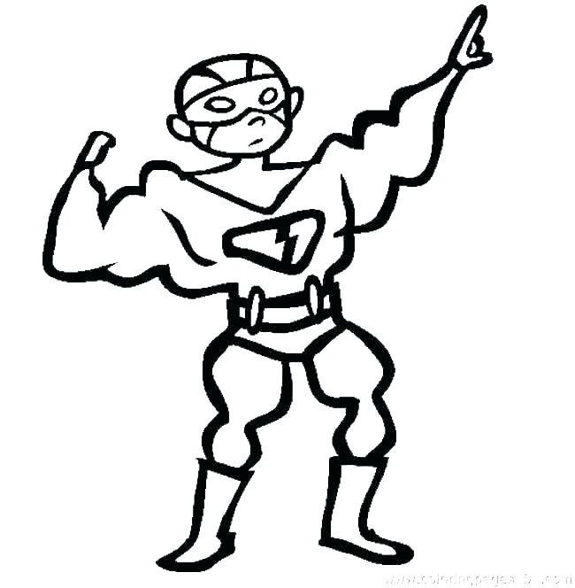 650x664 Free Superhero Coloring Pages