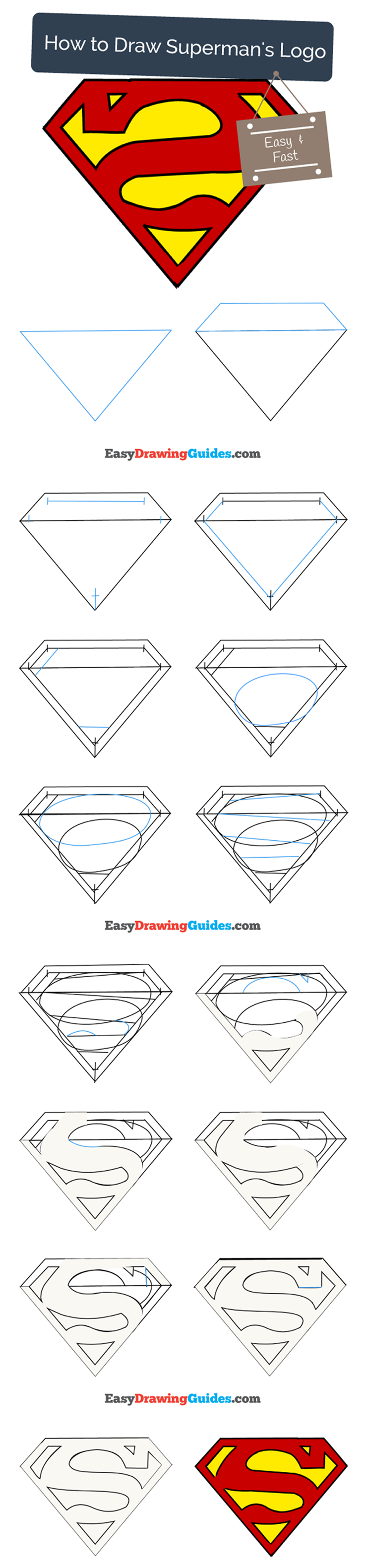 736x3161 How To Draw Superman Logo Drawing Superman Drawing, Drawings