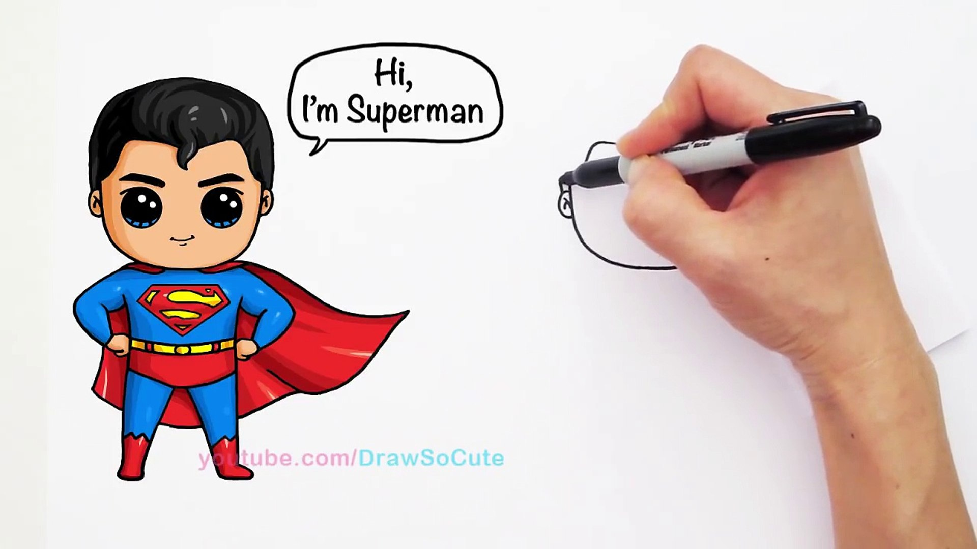 1920x1080 How To Draw Superman Man Of Steel Cute Step