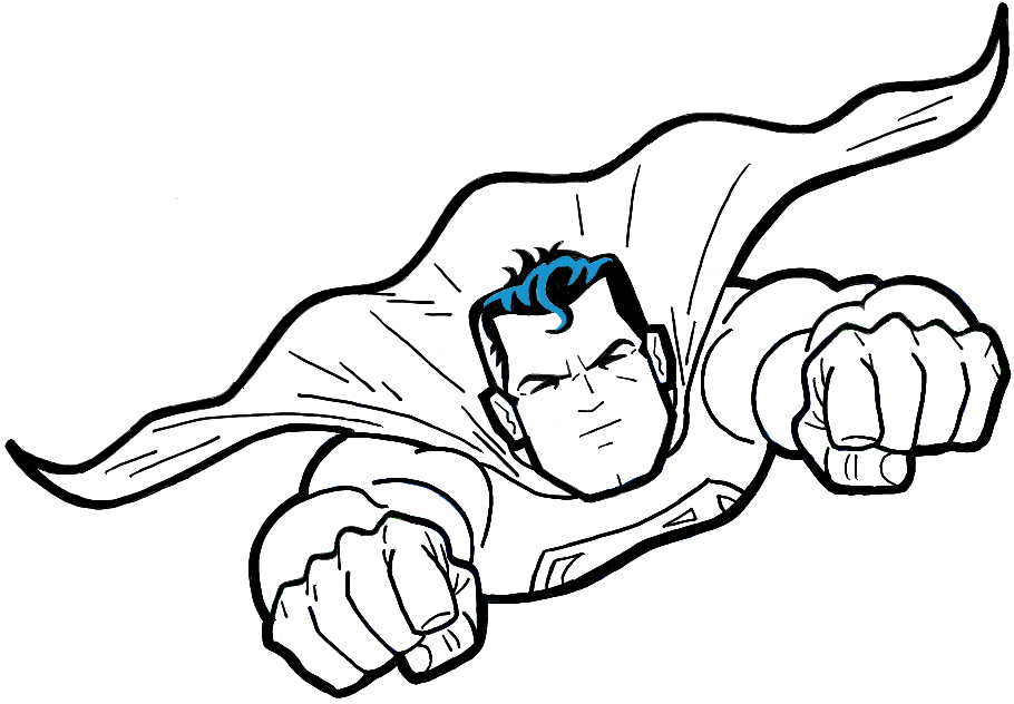 910x632 How To Draw Superman From Dc Comics In Easy Step