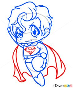 236x284 Best Superman Chibi Images Caricatures, Cartoons, Superman Drawing