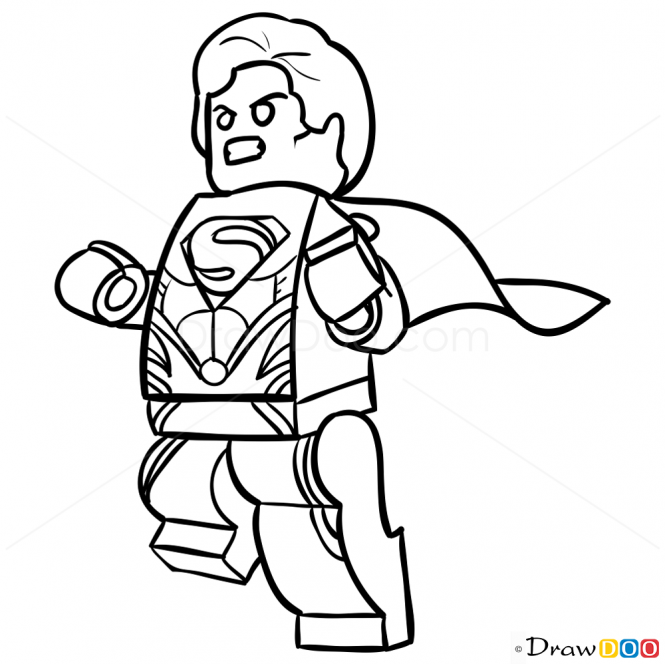 Superman Line Drawing