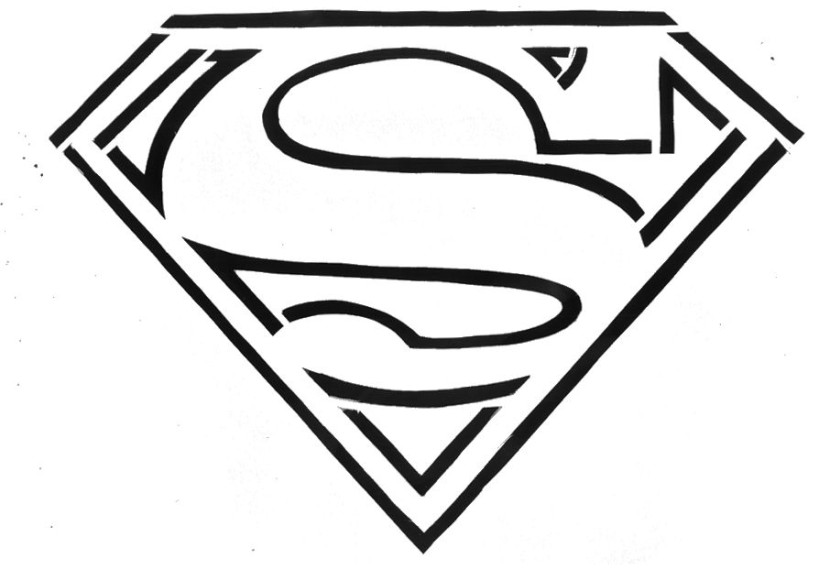 It's just a picture of Free Printable Superman Logo regarding coloring