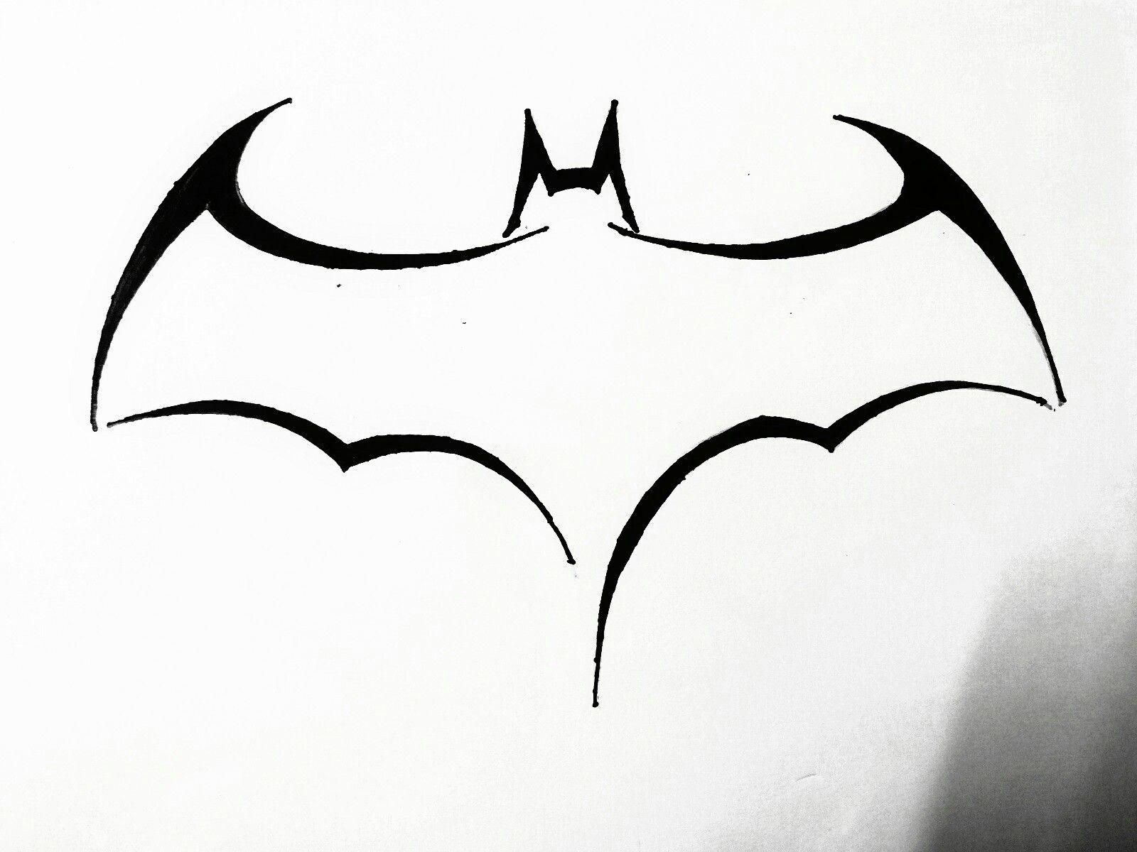 1600x1200 Simple Batman Logo Drawing Line Vs Superman Easy Iydunetwork