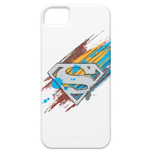 540x540 superman s shield paint streaks logo case mate iphone case