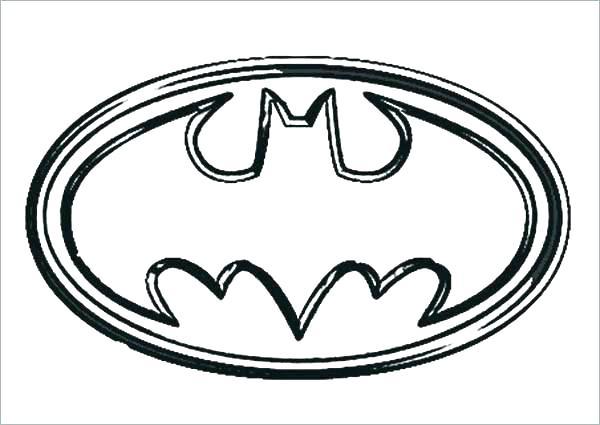 600x425 Batman Logo Coloring Pages