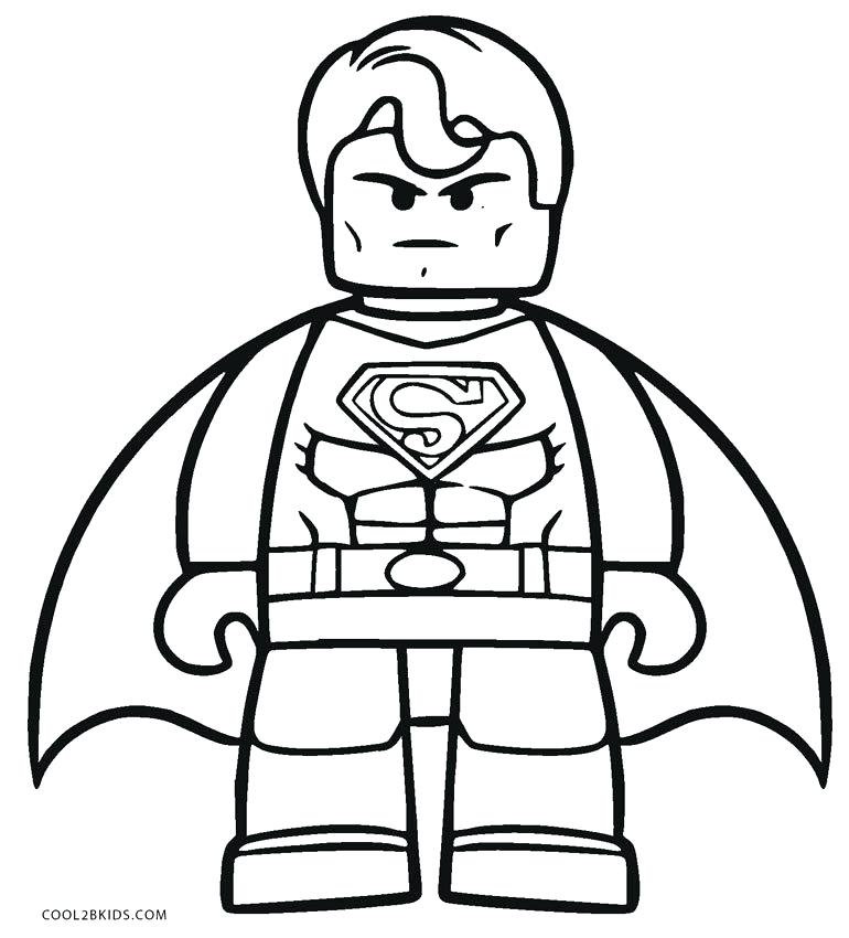 770x850 Colour In Superman Free Coloring Pages Superman Color Drawing