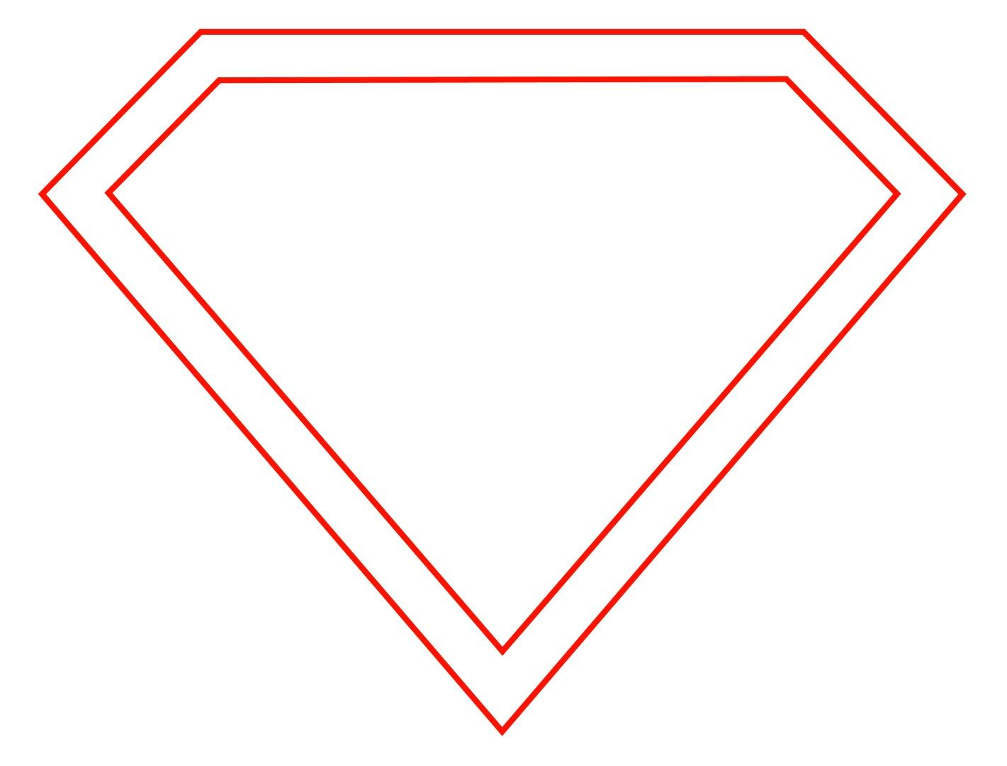 1421x1080 how to draw the superman logo superman drawing, superman