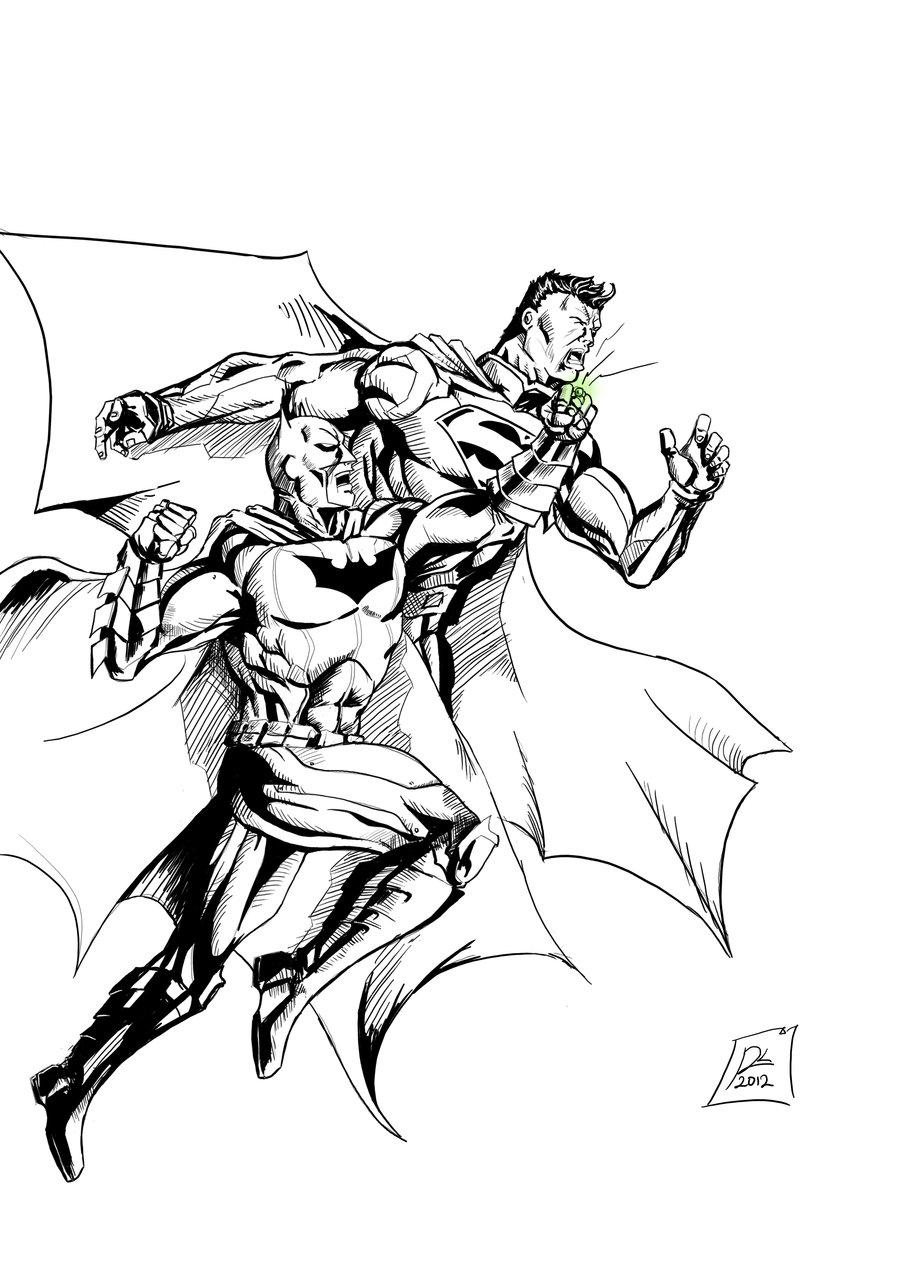 Superman Vs Batman Drawing