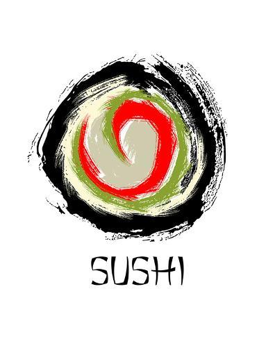 Sushi Roll Drawing