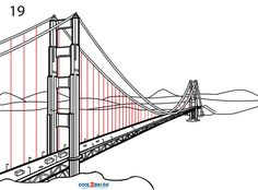 Suspension Bridge Drawing