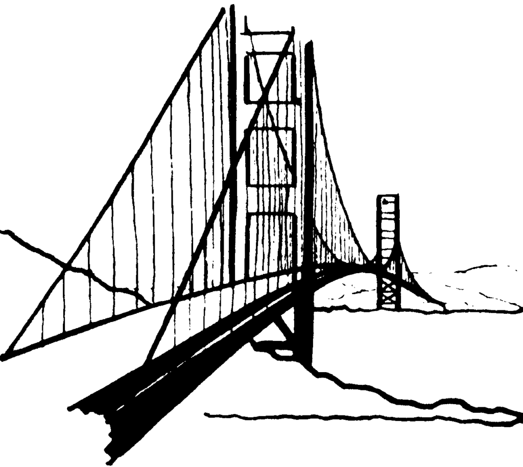 1024x915 Clip Art Of Bridge