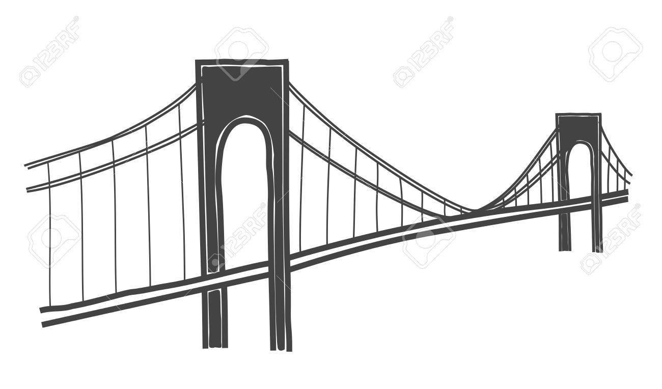 1300x764 Verazzano Narrows Bridge Drawing Clipart Portal