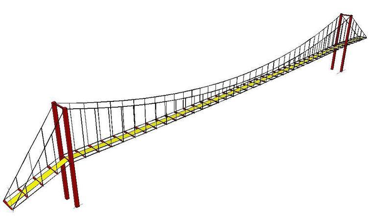 780x443 Meter Long Pedestrian Suspension Bridge Freelancer