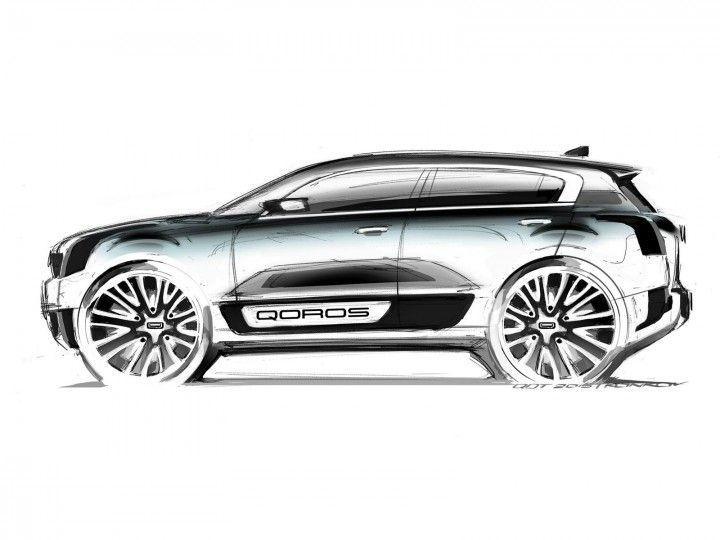 720x540 qoros teases compact hybrid suv concept concept, car sketch
