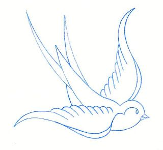 Swallow Outline Drawing | Free download best Swallow Outline