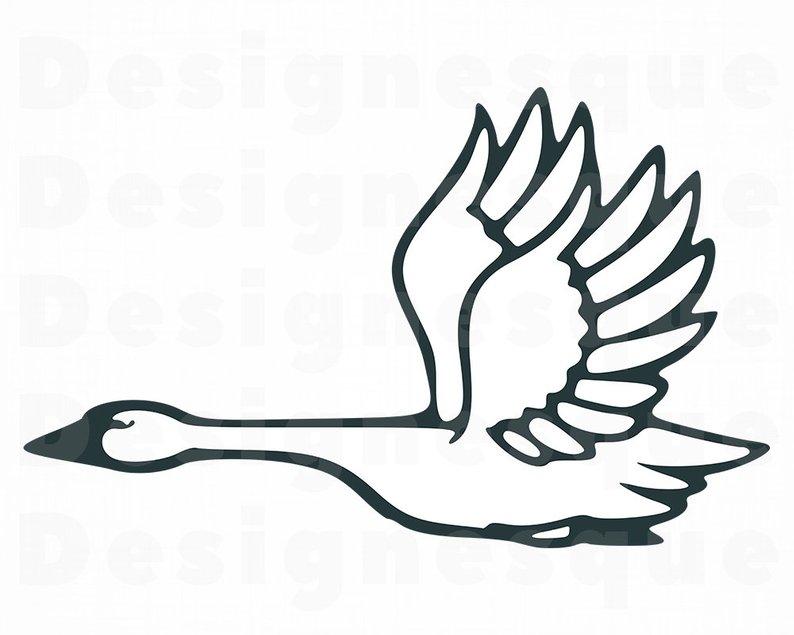 794x635 flying swan swan flying swan clipart flying swan etsy