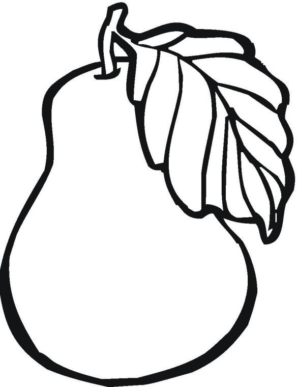 584x760 Sweet Corn Coloring Pages Luxury Fruit Pear Coloring