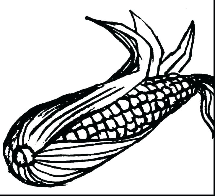 728x666 Corn Coloring Pages Candy Corn Coloring