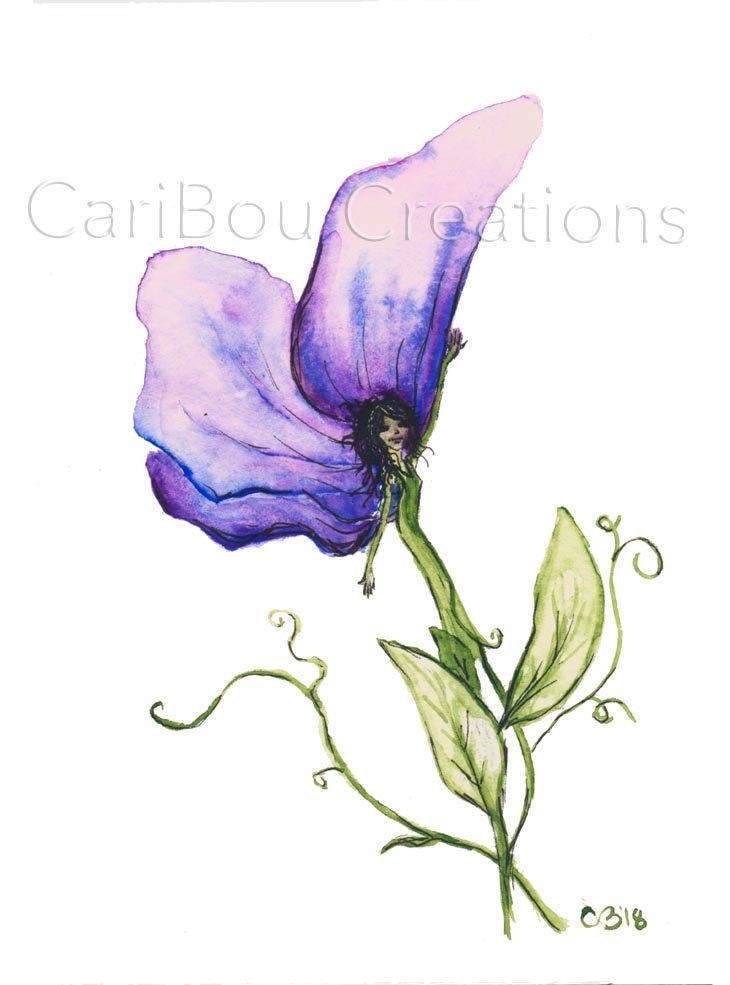 730x985 art print sweet pea watercolor print flower woman sweet etsy
