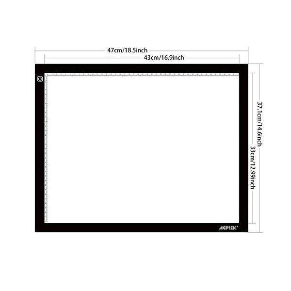 600x600 drawing pad, adjustable brightness tattoo tracing pad