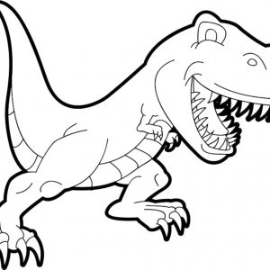 300x300 how to draw a t rex best drawing dinosaur for kids simple t rex
