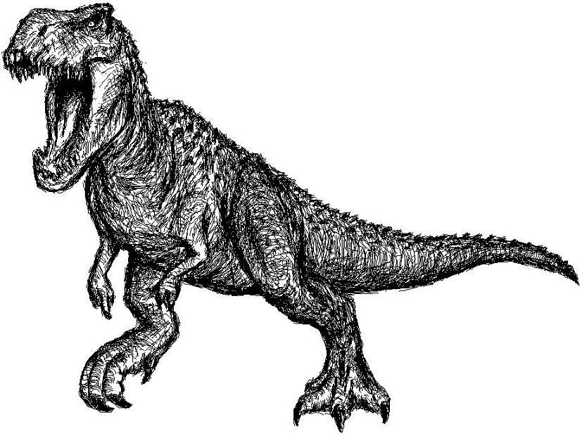 T Rex Skull Drawing